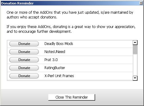 WowMatrix & Spenden